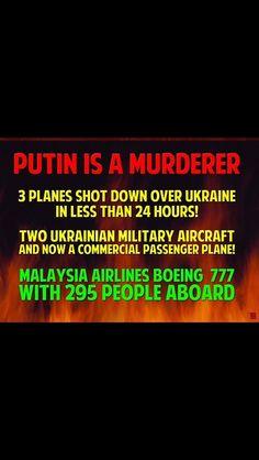 Putin is a murderer.