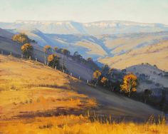 Afternoon Light Kanimbla Valley by artsaus. Paintings by Graham Gercken (artaus on deviantART) are all in Oil on linen canvas using both brush and palette knife.