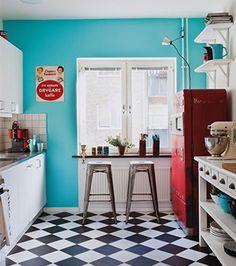Vive le rétro!   Les idées de ma maison #deco #annees50 #vintage #retro #cuisine #couleurs