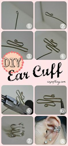 DIY ear cuff diy easy crafts diy ideas diy crafts do it yourself easy diy cuff diy tips diy images do it yourself diy jewelry diy craft ideas diy tutorial diy ear cuffs Do It Yourself Schmuck, Do It Yourself Jewelry, Do It Yourself Fashion, Do It Yourself Projects, Wire Crafts, Jewelry Crafts, Handmade Jewelry, Jewelry Ideas, Diy Jewelry To Sell