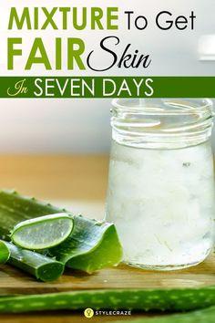 Super Natural Skin Whitening Mixture To Get Fair Skin In Just 7 Days