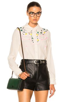 Coach 1941 Western Embellished Top in Natural   FWRD