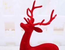 Frete grátis veados Natal ornamentos decorativos de Natal decoração da janela de Natal veados renas Milu(China (Mainland))