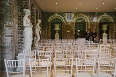 Entrance Hall at Powerscourt House being used for a civil ceremony.
