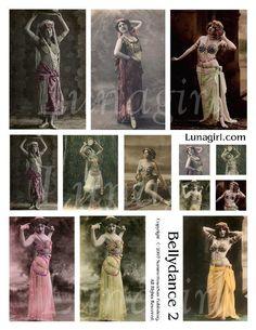 BELLYDANCE digital collage sheet DOWNLOAD vintage by Lunagirl (Craft Supplies & Tools, Scrapbooking Supplies, Scrapbooking Clip Art, art, collage, mixed media, altered, assemblage, scrapbooking, vintage, women, ephemera, digital, card, tag, paper)