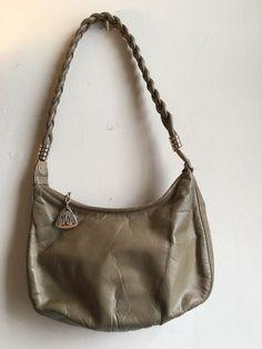 Vintage Morris Moskowitz Handbag - Gray Hobo Purse - Braided Strap ea40925fe9d4e