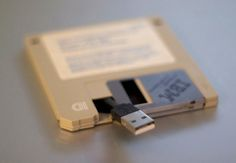 Turn an old floppy disk into a USB drive. #DIY