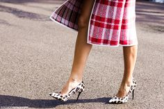 Leopard and Celine checks Celine, Christine Centenera, Plaid And Leopard, Happily Grey, Fashion Gone Rouge, Leopard Print Shoes, Leopard Heels, Colette, Mixing Prints