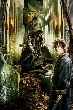 The Hobbit: The Battle of the Five Armies Tapestry close up,Thorin and Bilbo.
