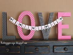 The Happy Scraps: LOVE is all you need #decor #valentine #valentine's #decor