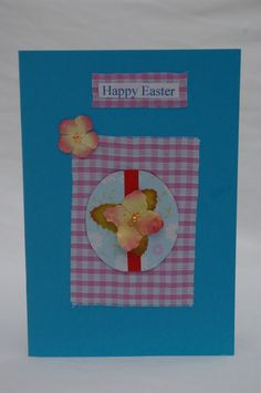 Easter Egg Card, Handmade in Pink and Blue £3.00
