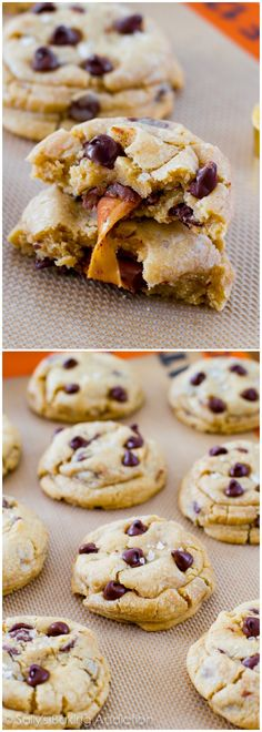Salted Caramel Chocolate Chip Cookies!