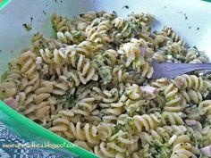 mamma di b.e.a.: insalata di pasta con broccoletti e crema di prosciutto