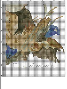 Blue Belle Hummel cross stitch - PATTERN 1C