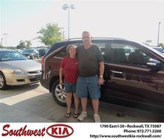 Happy Anniversary to Linda Thompson on your 2013 Kia Sorento from Gary Guyette Jr and everyone at Southwest KIA Rockwall!