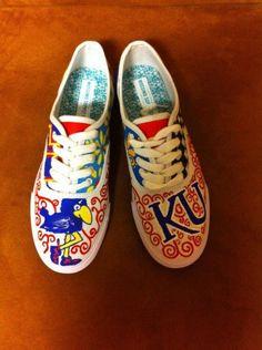 KU shoes old school Jayhawk