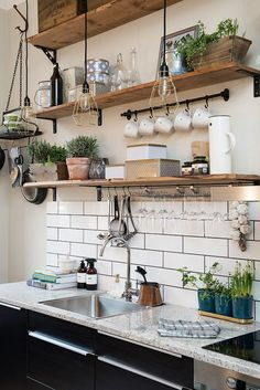 How To Make Industrial Decor Feel Cozy - Add Greenery