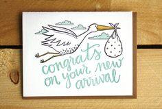 Congrats Stork Baby Card