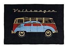 Kuschelige Fleecedecke - VW Bulli / VW Käfer Design / Volkswagen #Geschenkidee #Merchandise #vanlife (Affiliate-Link)