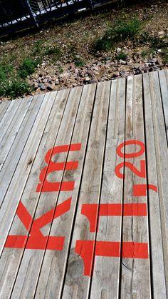 Floor Signage, Wayfinding Signage, Signage Design, Environmental Graphics, Environmental Design, Parcs Paris, Mtb Trails, Rooftop Design, Pavement