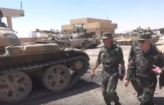 4 SAA T-55s and a T-72M1 TURMS-T in Sukhnah.