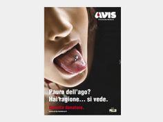 Campagna di Comunicazione per manifesti e stampa locale realizzata per l'AVIS Provinciale di Mantova.