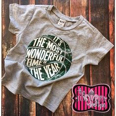 50% off It's The Most Wonderful Time of the Year Green Basketball Tee Size 2T-18