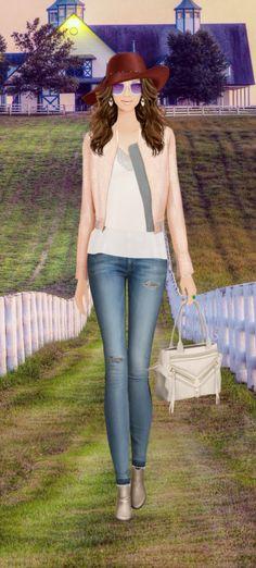 Fashion Game- modern southern belle