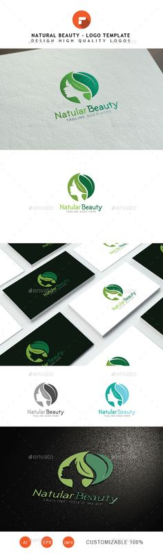 Natural Beauty is a simple and effective logo suitable for bio cosmetics businesses, natural pharmacy, cosmetic company, spa, beau Skincare Logo, Image Skincare, Makeup At Home, Beauty Logo, Beauty Ad, Beauty Tips, Beauty Products, R Colors, Cosmetic Companies