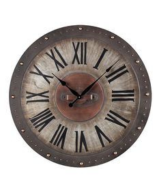 Copper Roman Numeral Outdoor Wall Clock | zulily