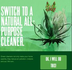 Switch to a natural all-purpose cleaner...like they have at #seventhgeneration! ow.ly/albdk