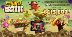 What a day to celebrate Cinco de Mayo! Danny from Passaic, NJ, won $117,600 today playing Spinata Grande!!!