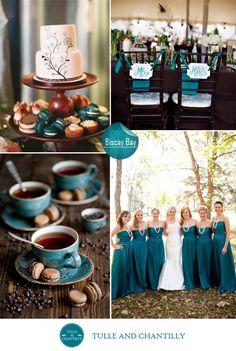 fall wedding color ideas 2014 - unique ocean blue wedding color scheme for beach and country weddings 2015