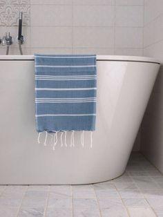 Hammam handdoek 100x50 Ottomania jeansblauw