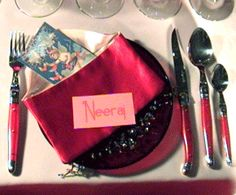 Place cards:  Place cards serve several functions at a dinner, formal or informal. They add a special touch to a table. Guests seem to love wandering around the table to find which seat is theirs. But more importantly, it gives the host control of how the guests will interact. In other words, if you know that one of the attendees is shy, put them in the center of the table. More verbose guests should be placed on the ends. That way no is isolated from the action. When deciding on a style…