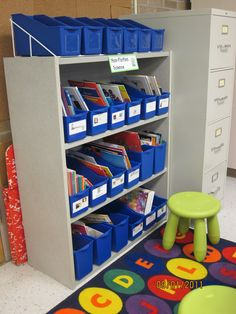 New Adventures in First Grade: Where it Happens Wednesday! Book Organization, Classroom Organization, Classroom Design, Classroom Decor, New Adventures, First Grade, Design Projects, Wednesday, Bookcase