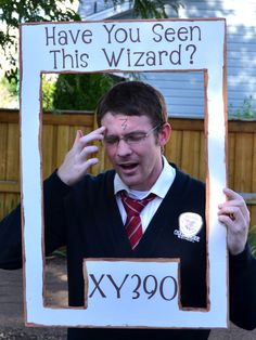 Make a photo booth for guests to pose as escaped wizards from Azkaban.