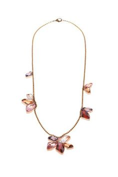 CA&LOU  red metallic rose gold #necklace