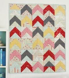 Modern Quilt.   half square triangels