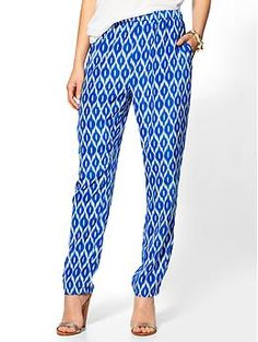Ikat Print Pant $59    Throw a little ridiculousness into your wardrobe and have some fun watching people trying to figure these out.