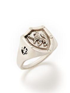 Leo Shield Ring by Mateo Bijoux on Gilt