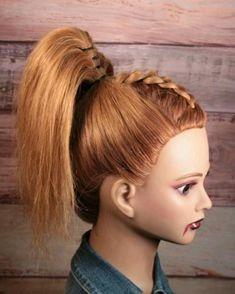 Pretty Braided Hairstyles, Pony Hairstyles, Hairdo For Long Hair, Easy Hairstyles For Long Hair, Tween Hairstyles For Girls, Hair Style Vedio, Easy Hairstyle Video, Front Hair Styles, Hair Videos