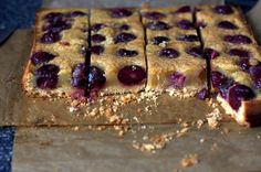 cherry brown butter bars by smittenkitchen -- thinking of bringing these for trav's parents
