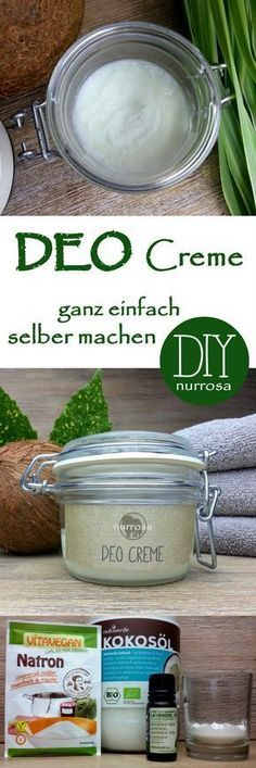 DEO Creme ganz einfach selber machen Simply make DEO cream with coconut oil yourself The instructions for my deodorant spray and my deodorant roll-on have already been presented to you: DEO SPRAY very easy to do yourself and DEO ROLL-ON… (Diy Beauty) Shampooing Diy, Diy Lush, Deodorant Spray, Belleza Diy, Diy Beauté, Makeup Remover Wipes, Makeup Wipes, Blackhead Remover, Diy Makeup