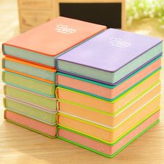 Aliexpress.com : Buy New Arrival Notebook Manuscripts Love Candy Colored Leather Diary Notebook Notepad Korea School Supplies Stationery Cute Kawaii from Reliable notebook touch suppliers on Happiness Bazaar | Alibaba Group