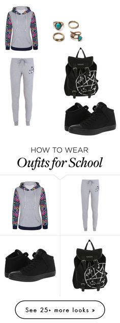 """School style 6"" by starrjames on Polyvore featuring NIKE, Converse, women's clothing, women, female, woman, misses and juniors"