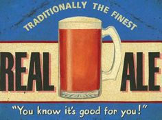 Metal Wall Sign Tin Plaque Old Vintage Style For Pub Bar Kitchen Real Ale Beer