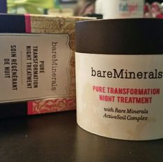 NIB BareMinerals Pure Transformation Night Treatme New in the box, comes in a clear shade so it's universal,  This is clinically proven to dramatically reduce the appearance of pores, and increase Luminosity, and is proven to help and speed up Cell Turnover. This stuff is Amazing and Raved about online and Beauty Guru's on utube. This was opened but never used, wanted to try it just never reached for it. bareMinerals Makeup