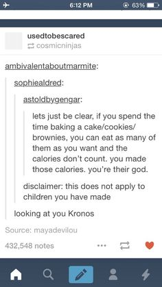 hahaha very funny. For those who don't get it Kronos in Greek mythology ate his children because a prophecy was made that his children would overthrow and defeat him.
