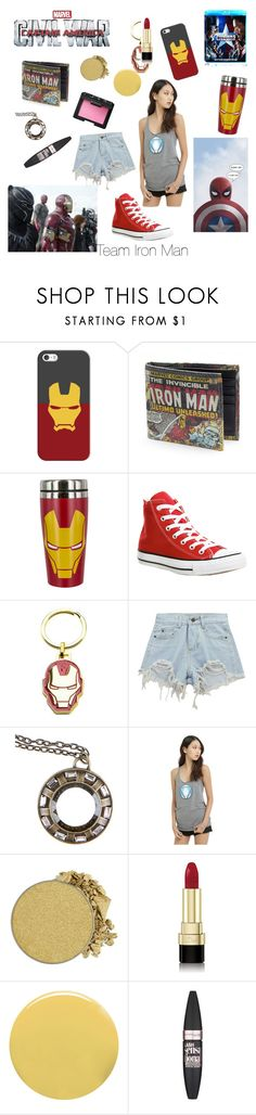 """Team Iron Man"" by oliviakopp ❤ liked on Polyvore featuring Casetify, Converse, Marvel, Chicnova Fashion, Reactor, Anastasia Beverly Hills, Dolce&Gabbana, Lauren B. Beauty, Maybelline and NARS Cosmetics"